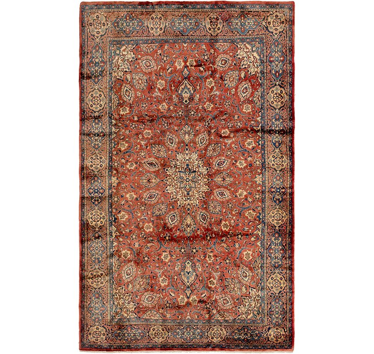 7' x 11' 6 Sarough Persian Rug
