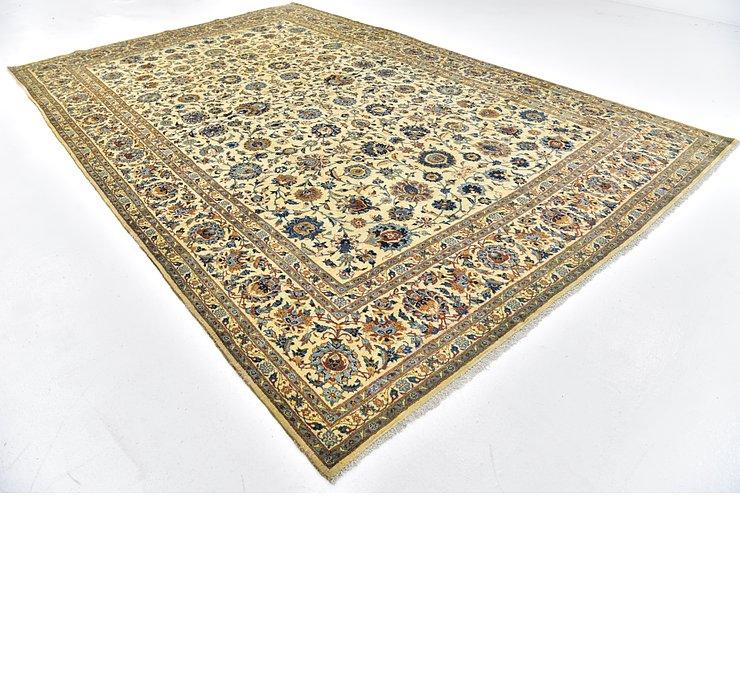 9' x 13' 10 Kashan Persian Rug
