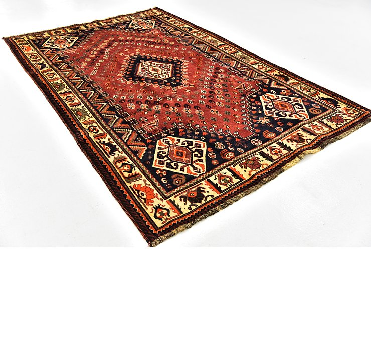 5' 6 x 8' 9 Ghashghaei Persian Rug