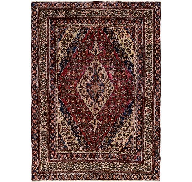 7' x 9' 6 Hamedan Persian Rug