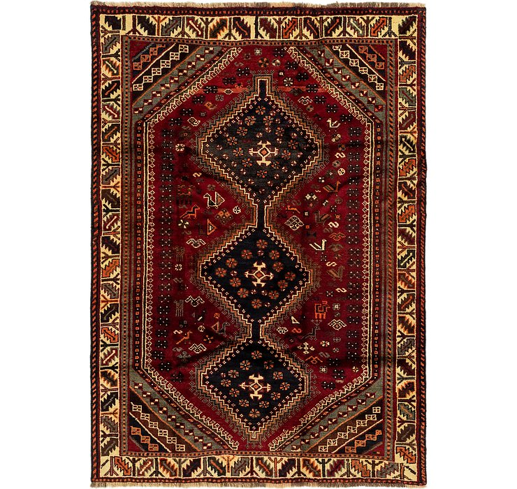 5' x 7' 2 Ghashghaei Persian Rug