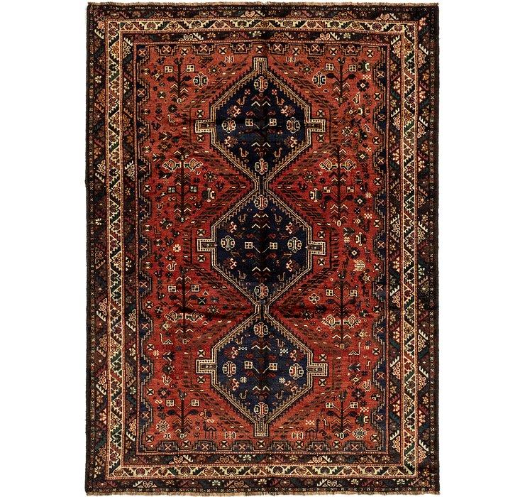 7' x 9' 6 Ghashghaei Persian Rug
