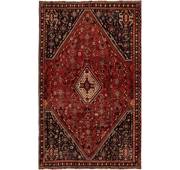 6' x 9' 7 Ghashghaei Persian Rug