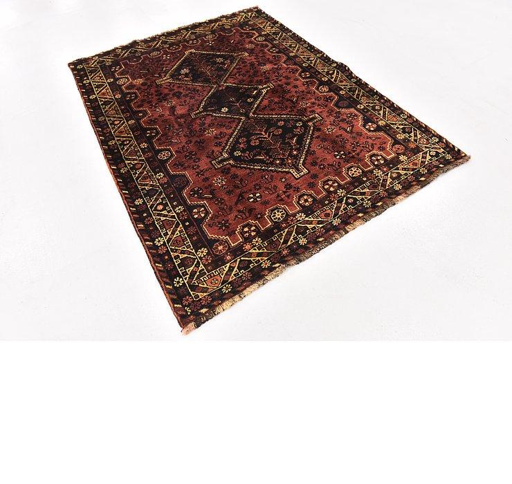 5' x 6' 7 Ghashghaei Persian Rug