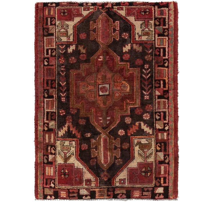 105cm x 140cm Hamedan Persian Rug