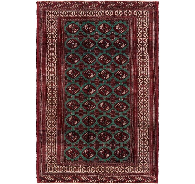 6' 4 x 9' 5 Torkaman Persian Rug