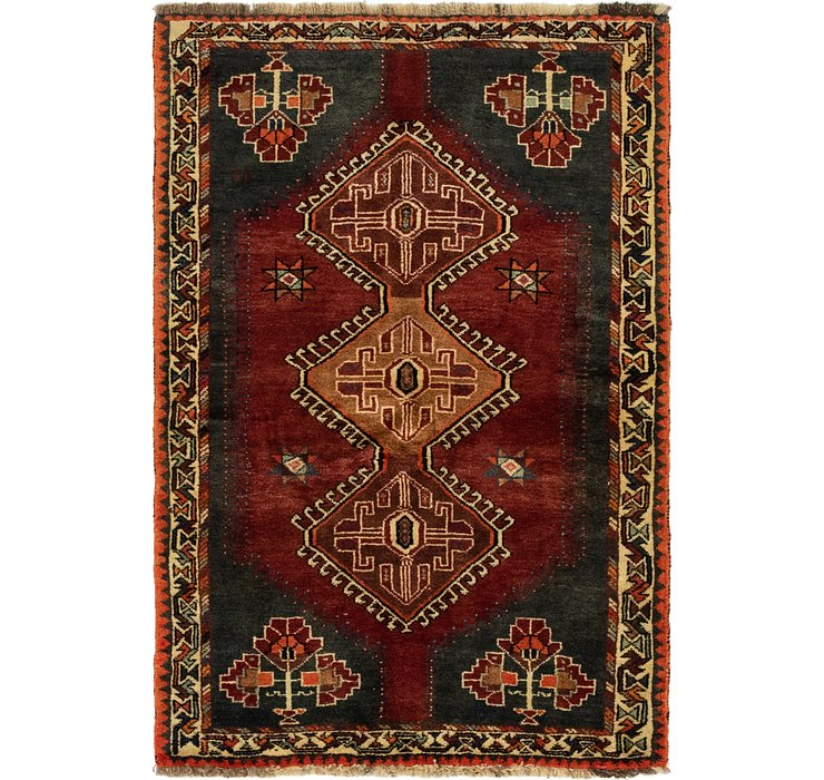 3' 5 x 5' 2 Ghashghaei Persian Rug