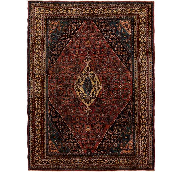 8' 7 x 11' 6 Hamedan Persian Rug