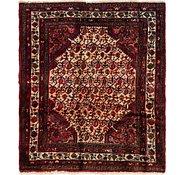 Link to 4' 2 x 4' 9 Hamedan Persian Square Rug