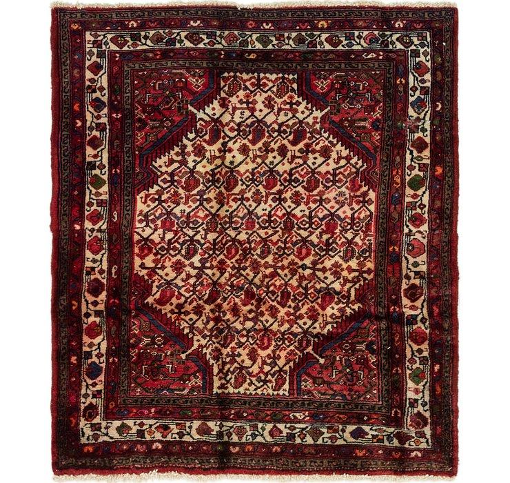 4' 2 x 4' 9 Hamedan Persian Square ...