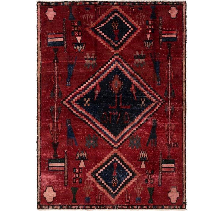 4' 6 x 6' 6 Hamedan Persian Rug