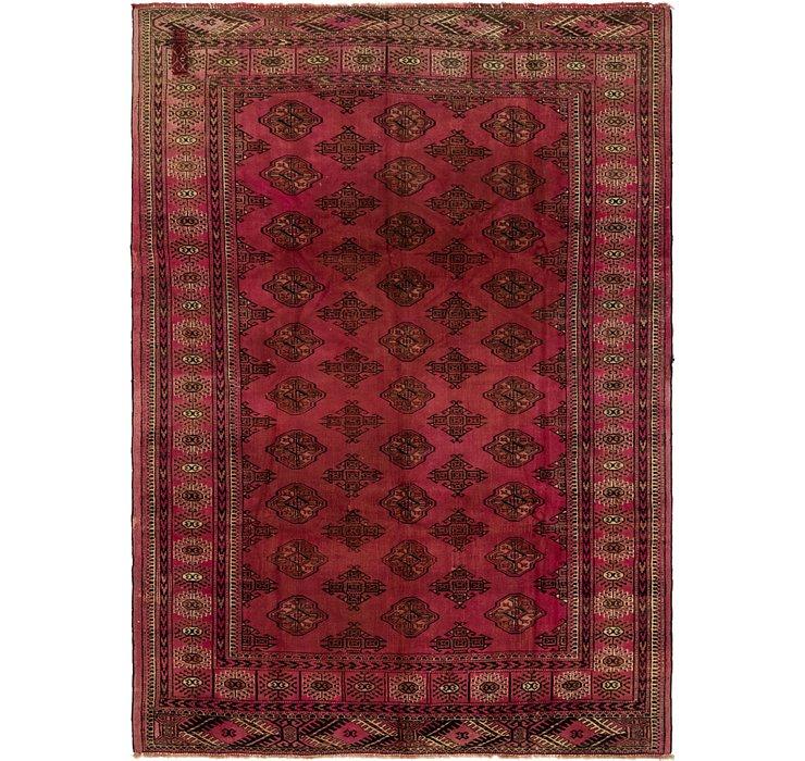6' 7 x 9' Torkaman Persian Rug