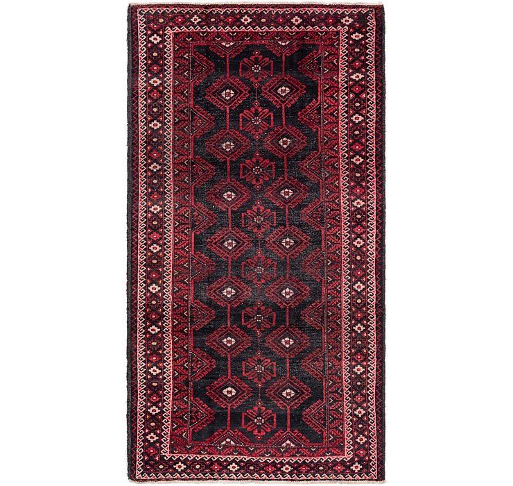 5' x 9' 5 Balouch Persian Runner ...