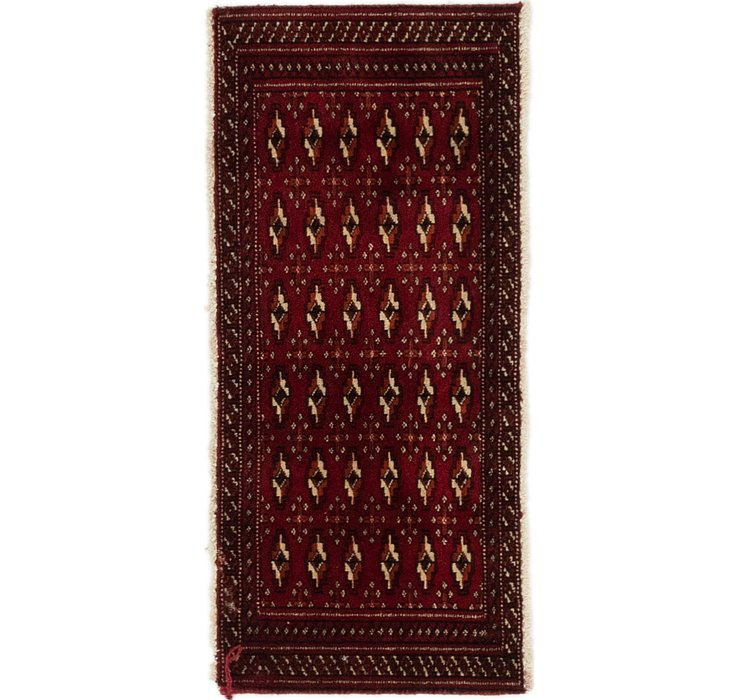 1' 7 x 3' Torkaman Persian Rug
