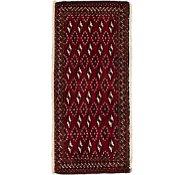 Link to 48cm x 110cm Torkaman Persian Rug