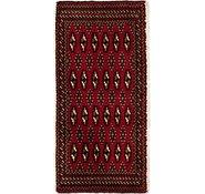 Link to 48cm x 105cm Torkaman Persian Rug