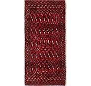 Link to 65cm x 132cm Torkaman Persian Rug