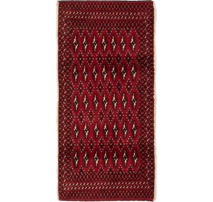 2' 2 x 4' 4 Torkaman Persian Rug