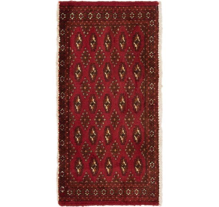 1' 7 x 3' 3 Torkaman Persian Rug