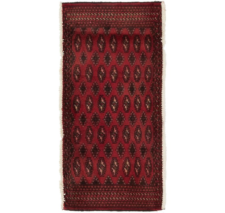 2' x 4' 2 Torkaman Persian Rug