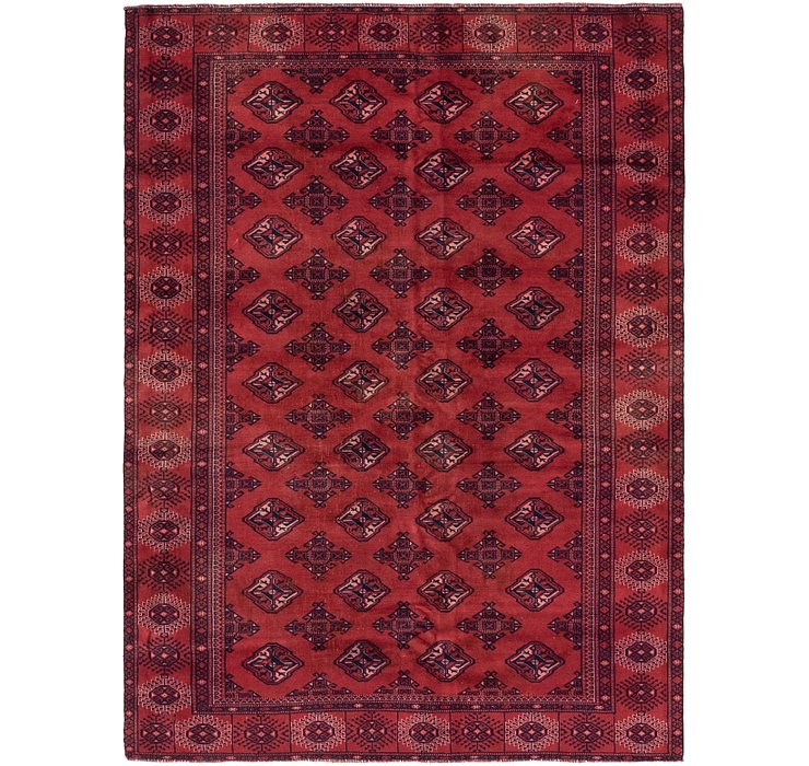 6' 6 x 8' 10 Torkaman Persian Rug