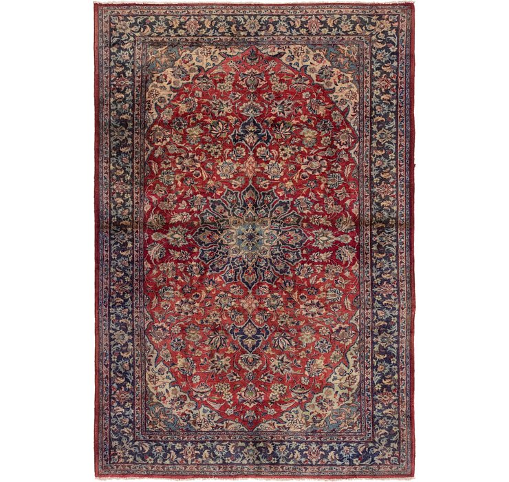 6' 7 x 9' 9 Isfahan Persian Rug