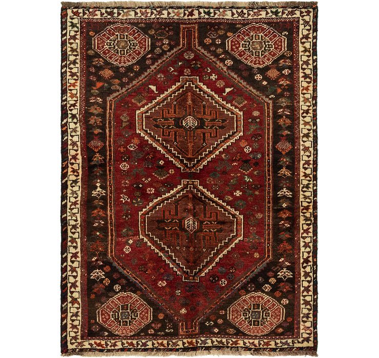 3' 7 x 4' 10 Ghashghaei Persian Rug