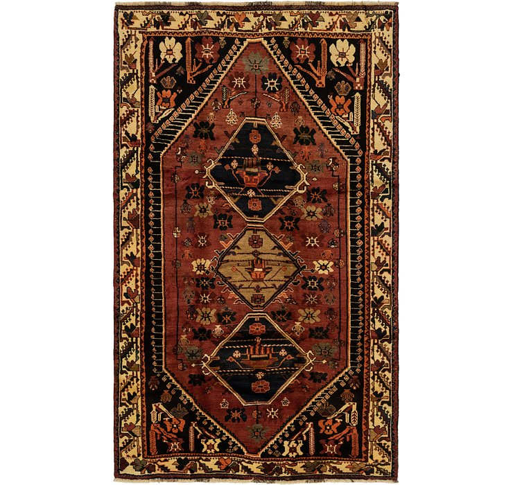 5' 2 x 8' 10 Ghashghaei Persian Rug