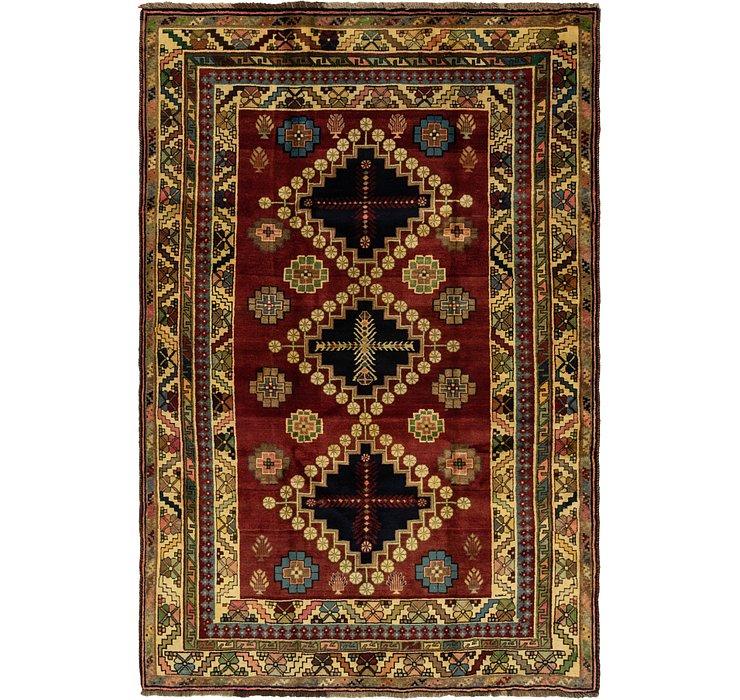 5' 9 x 8' 7 Ghashghaei Persian Rug