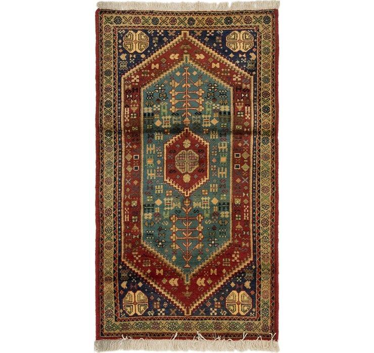 2' 6 x 4' 6 Yalameh Persian Rug