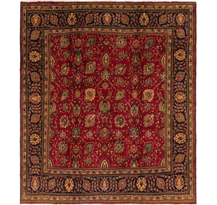 9' 10 x 10' 10 Tabriz Persian Square Rug