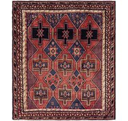 Link to 6' 5 x 7' 4 Shiraz Persian Square Rug