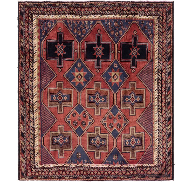 6' 5 x 7' 4 Shiraz Persian Square Rug