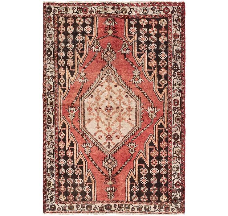 4' x 6' Mazlaghan Persian Rug