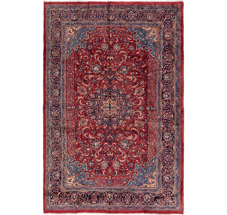 7' 2 x 10' 9 Sarough Persian Rug