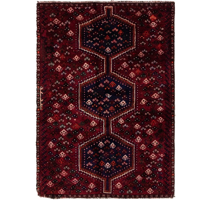 3' 3 x 4' 8 Shiraz Persian Rug