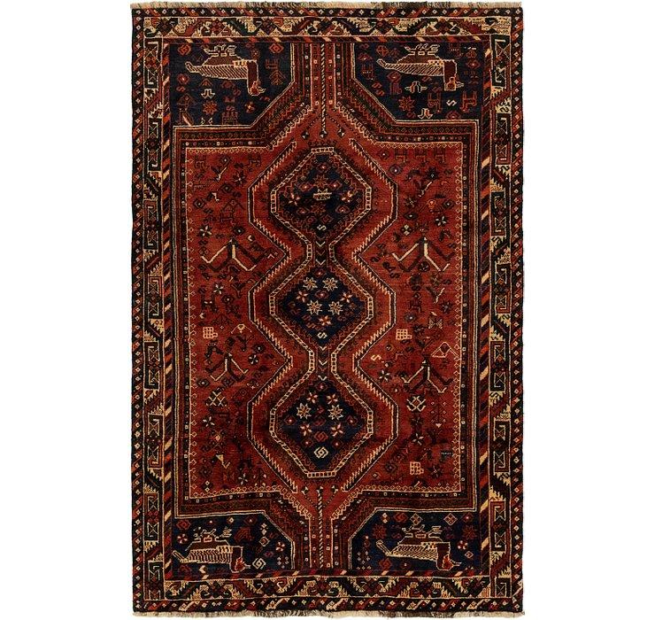 HandKnotted 4' 8 x 7' 7 Ghashghaei Persian Rug