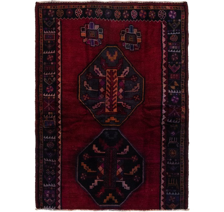 4' 4 x 5' 10 Shiraz Persian Rug