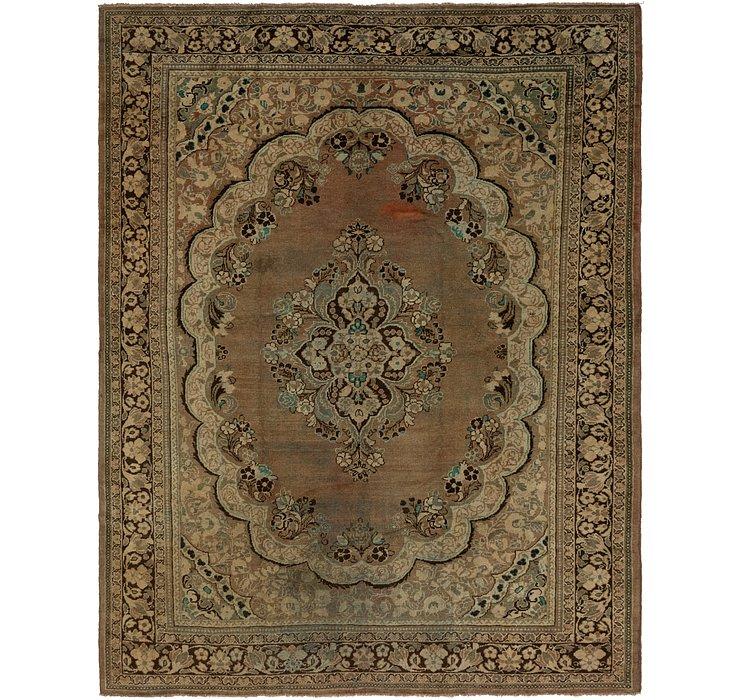 305cm x 378cm Meshkabad Persian Rug