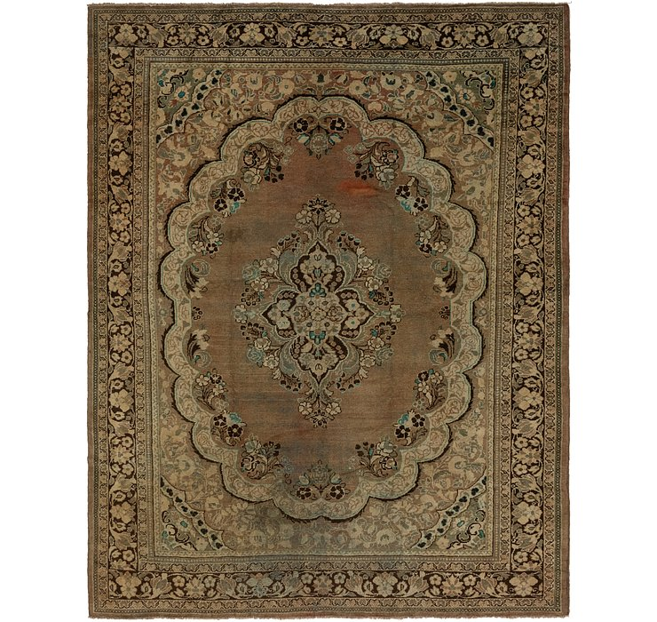 10' x 12' 5 Meshkabad Persian Rug