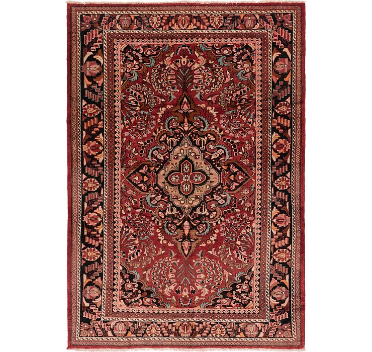 Red 6 6 X 10 Joshaghan Persian Rug Persian Rugs Handknotted Com