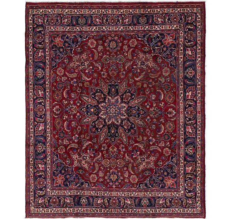 9' 10 x 11' 5 Mashad Persian Square Rug