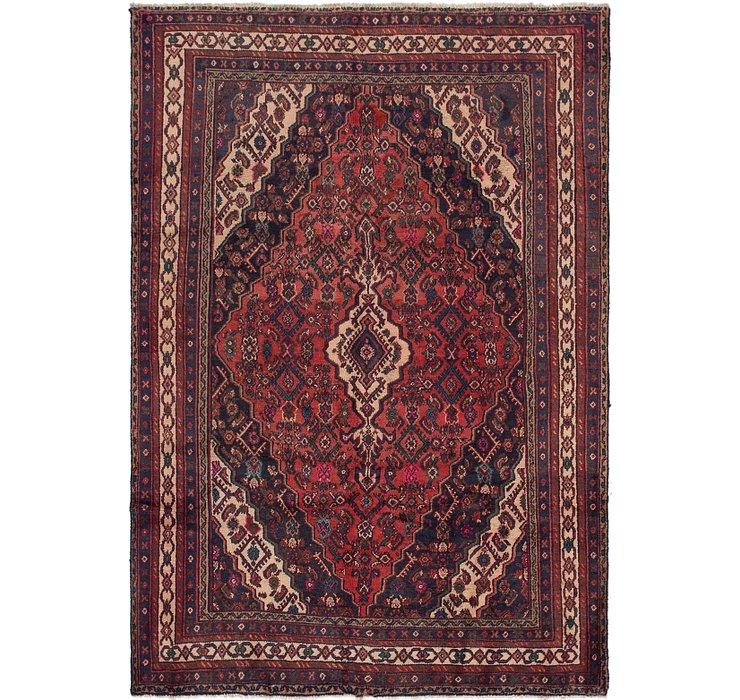 6' 5 x 9' 3 Hamedan Persian Rug