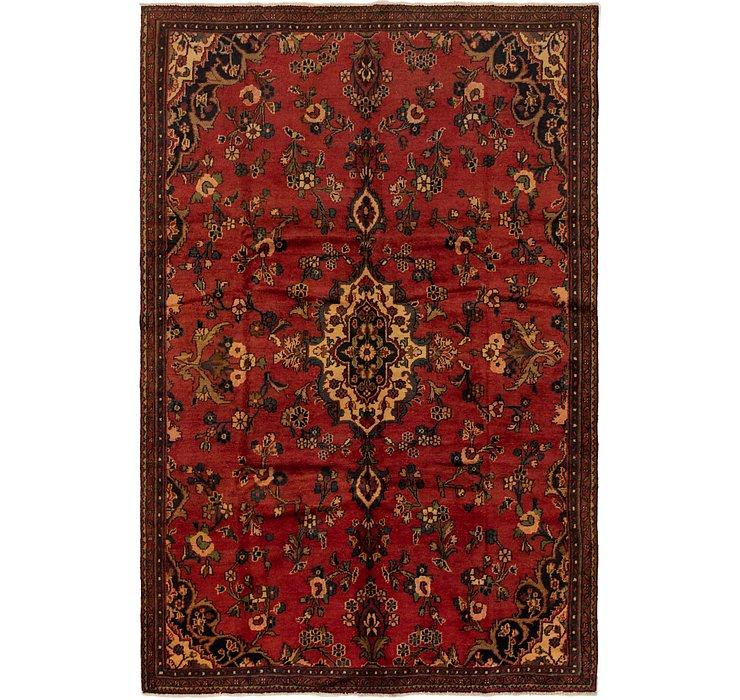 6' 3 x 9' 8 Hamedan Persian Rug