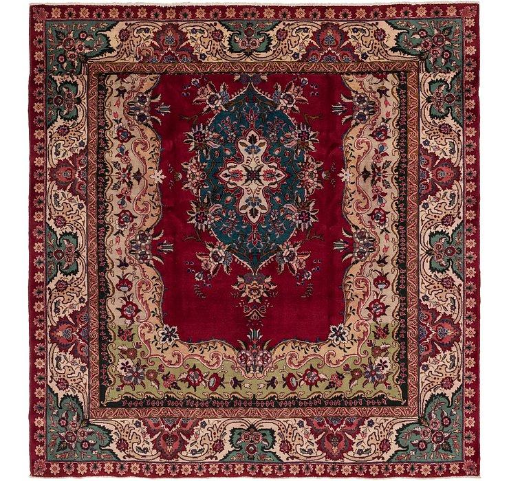9' 9 x 10' Tabriz Persian Square Rug