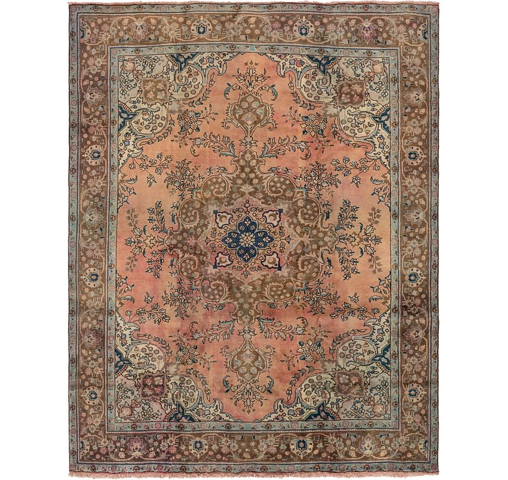 9' 3 x 12' 4 Tabriz Persian Rug