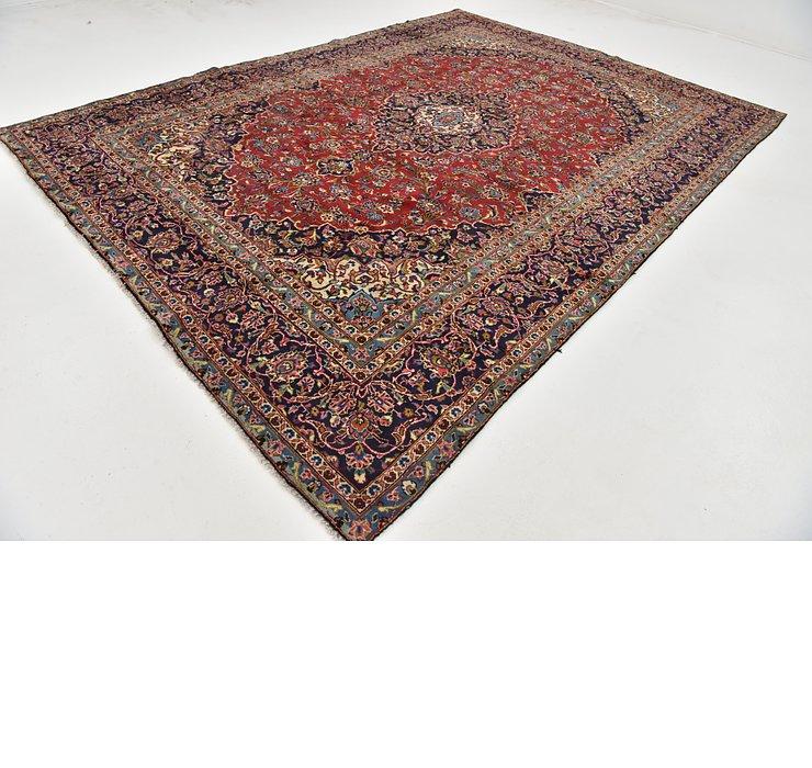 9' 4 x 12' 10 Kashan Persian Rug