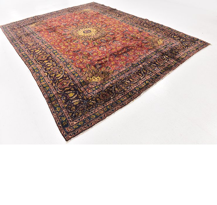 285cm x 375cm Mashad Persian Rug