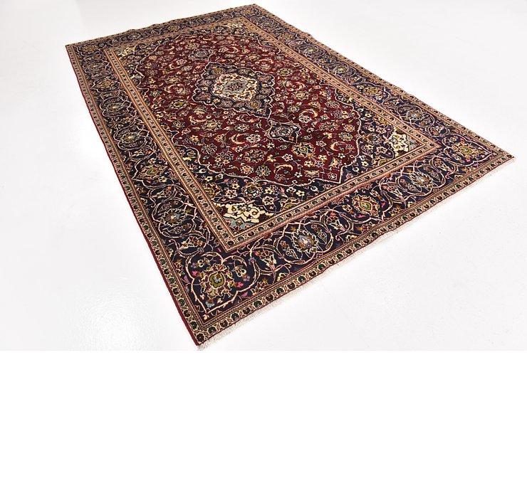 6' 4 x 9' 7 Kashan Persian Rug