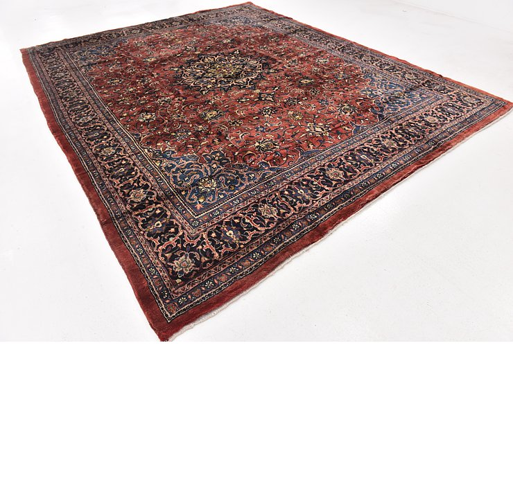 9' 10 x 13' 9 Sarough Persian Rug